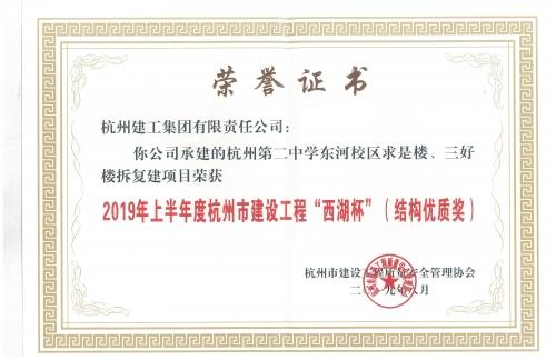 """【企业荣誉】ballbet体育平台贝博ballbetAPP贝博下载两个项目荣获""""西湖杯"""""""